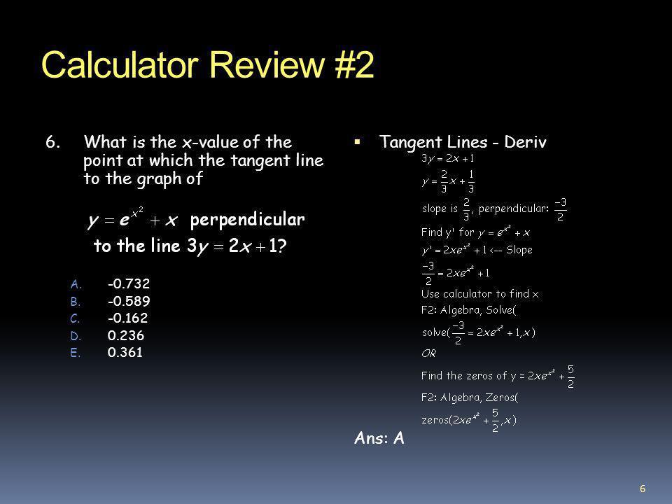 Calculator Review #2 7.