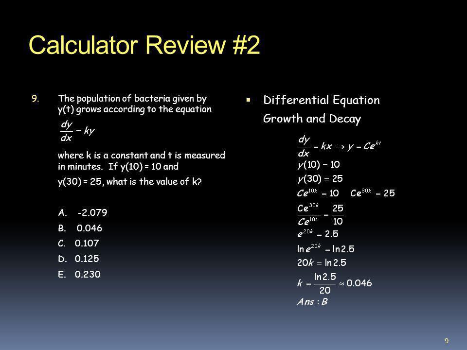 Calculator Review #2 10.