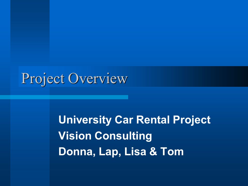 Functional Hierarchy Process Reservation Process Rental Process Car Return