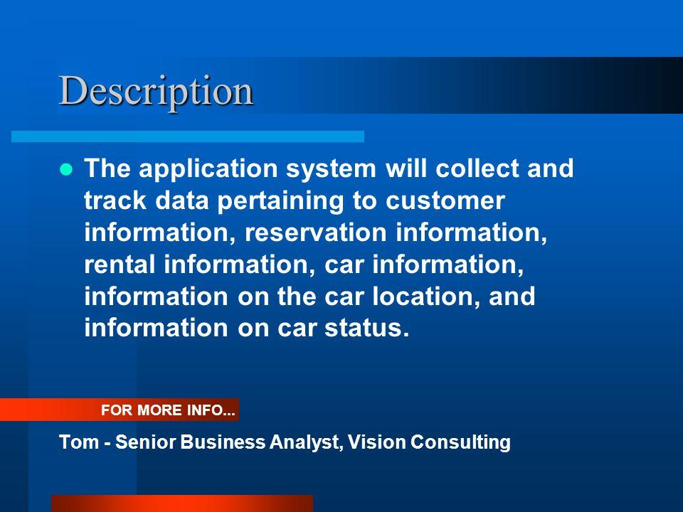 Description Lap - Senior Data Architect, Vision Consulting FOR MORE INFO...