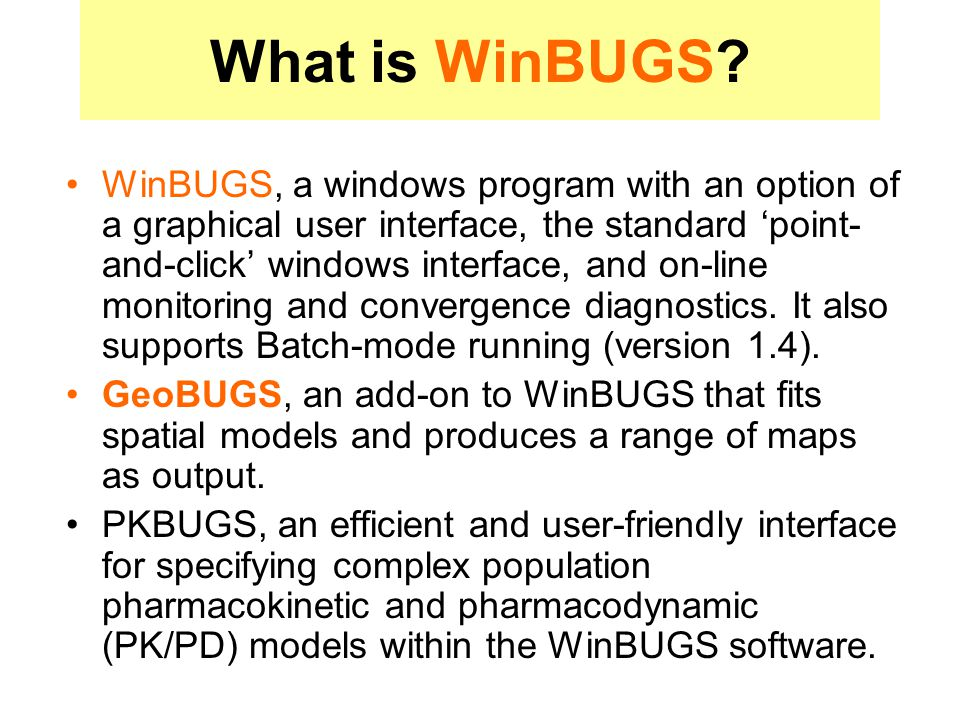 What is WinBUGS.