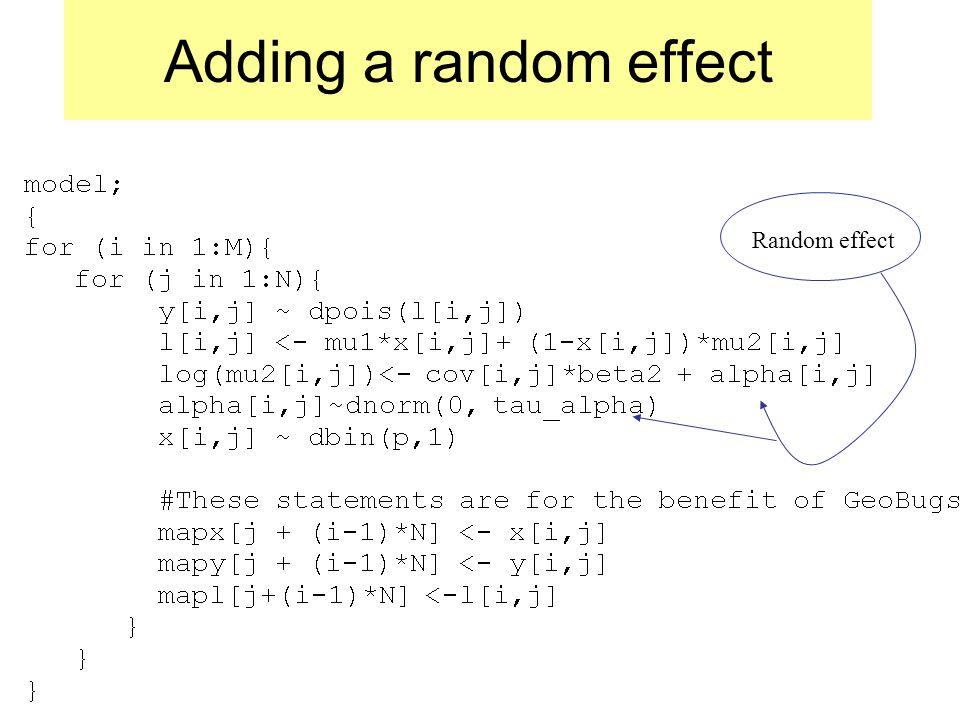 Adding a random effect Random effect