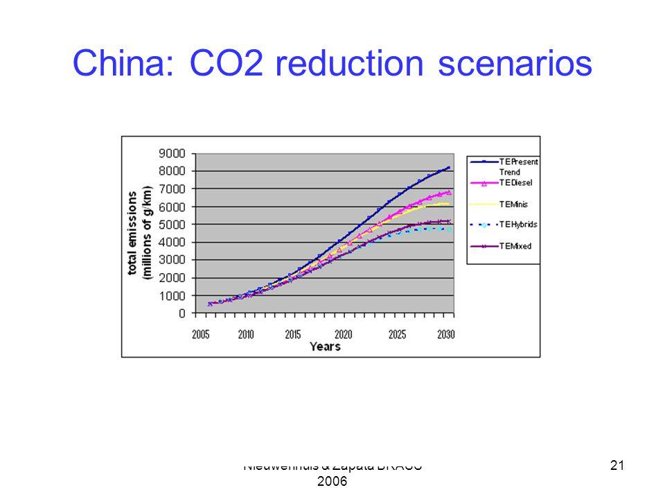 Nieuwenhuis & Zapata BRASS 2006 21 China: CO2 reduction scenarios