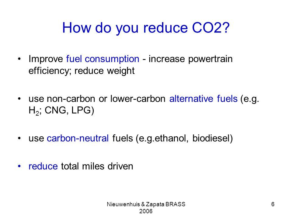 Nieuwenhuis & Zapata BRASS 2006 6 How do you reduce CO2.
