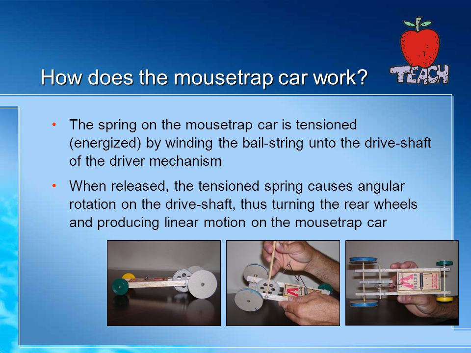 How does the mousetrap car work.