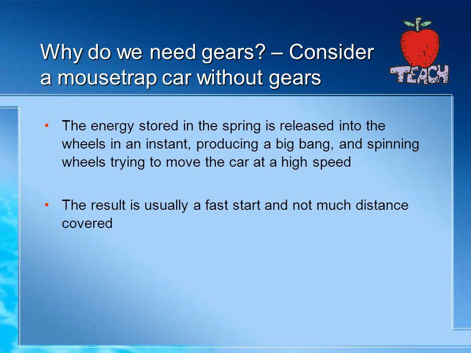 Why do we need gears.