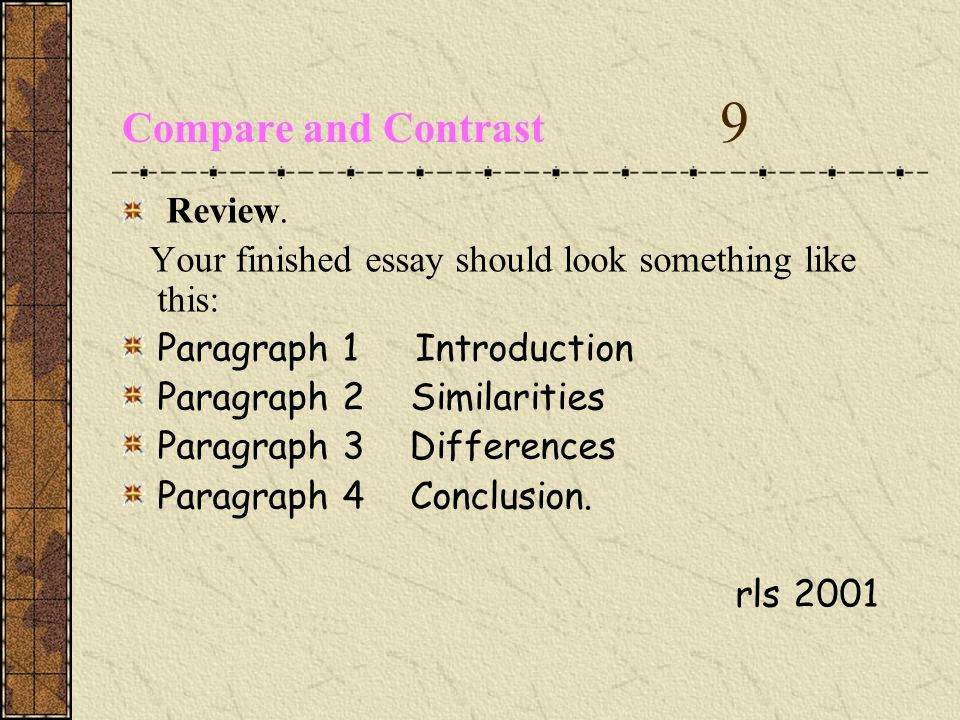 Compare and Contrast 9 Review.