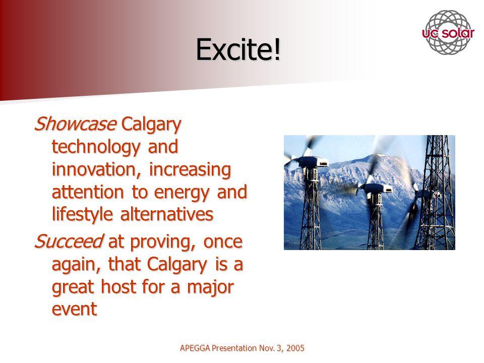 APEGGA Presentation Nov. 3, 2005 Excite.