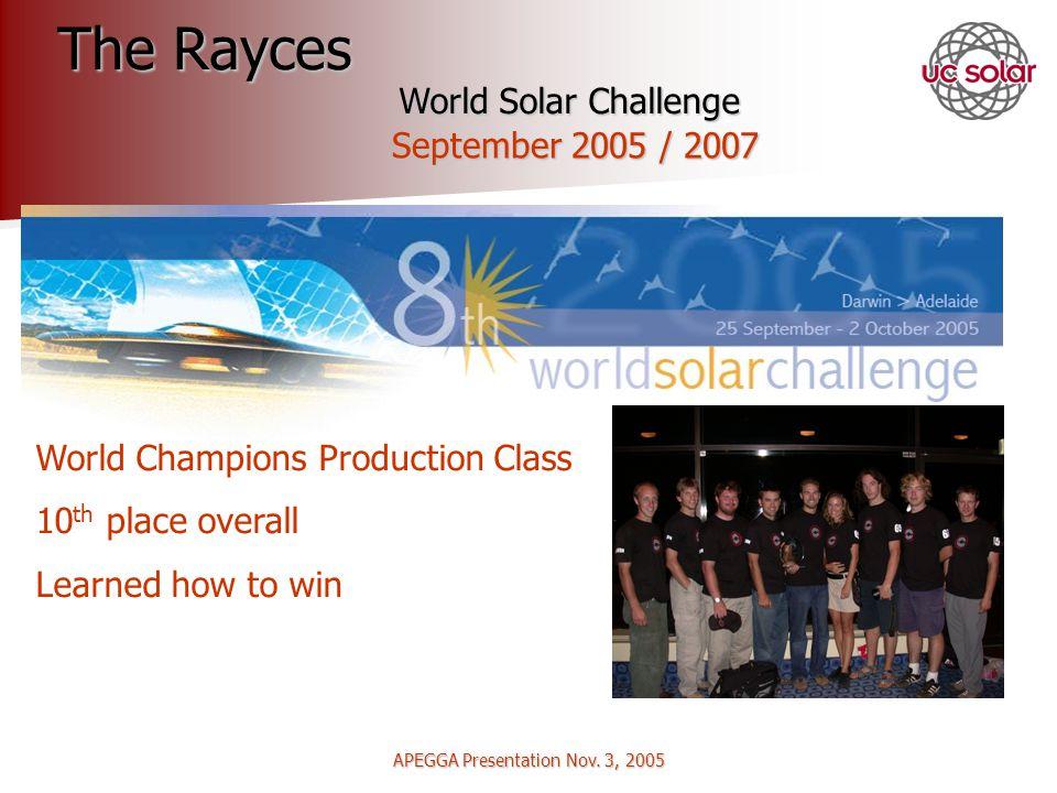 APEGGA Presentation Nov.3, 2005 How Did We Achieve Our Goals.