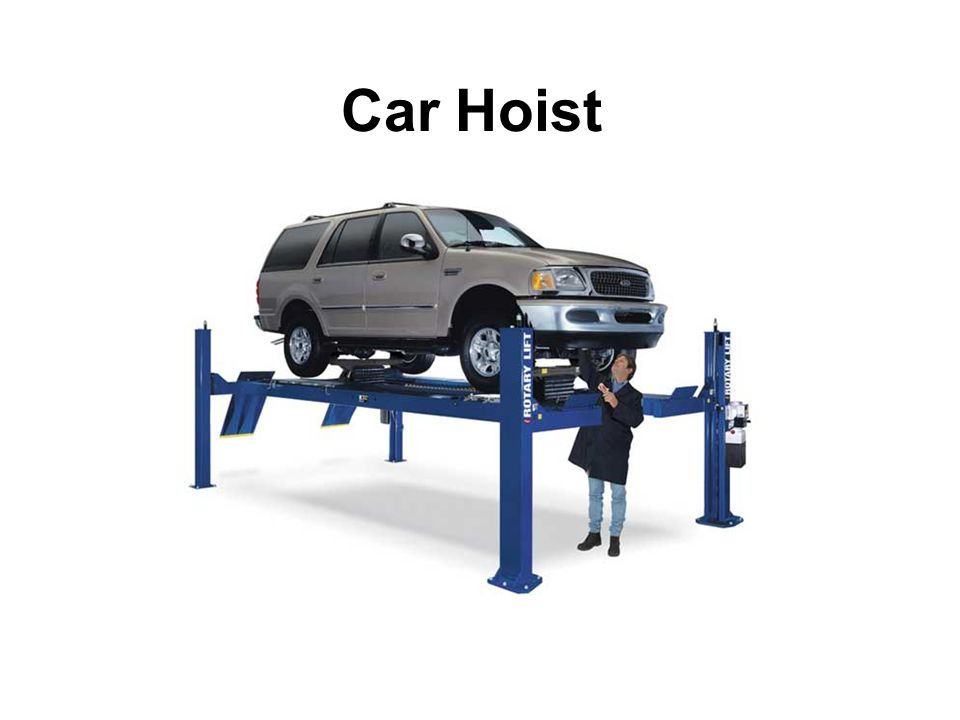 Before a car is moved onto the hoist Make sure you have read all safety stickers Make sure you are trained and feel proficient with the hoists operation Make sure work area is clear of any hazards