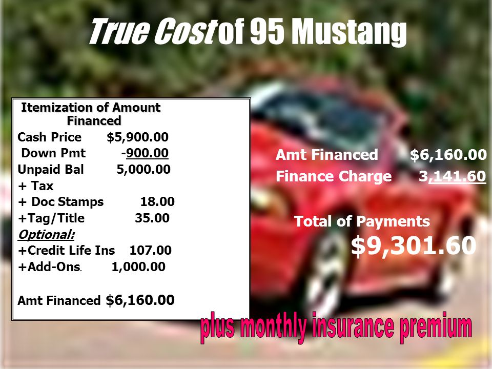 Consider the Real Car Costs Do you have a trade-in? Is there a lien or outstanding loan on the car? What payment can you live with? What is the intere