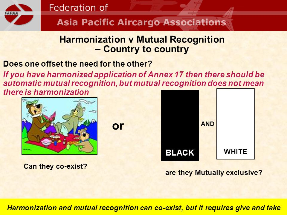 Harmonization v Mutual Recognition – Country to country Does one offset the need for the other? If you have harmonized application of Annex 17 then th