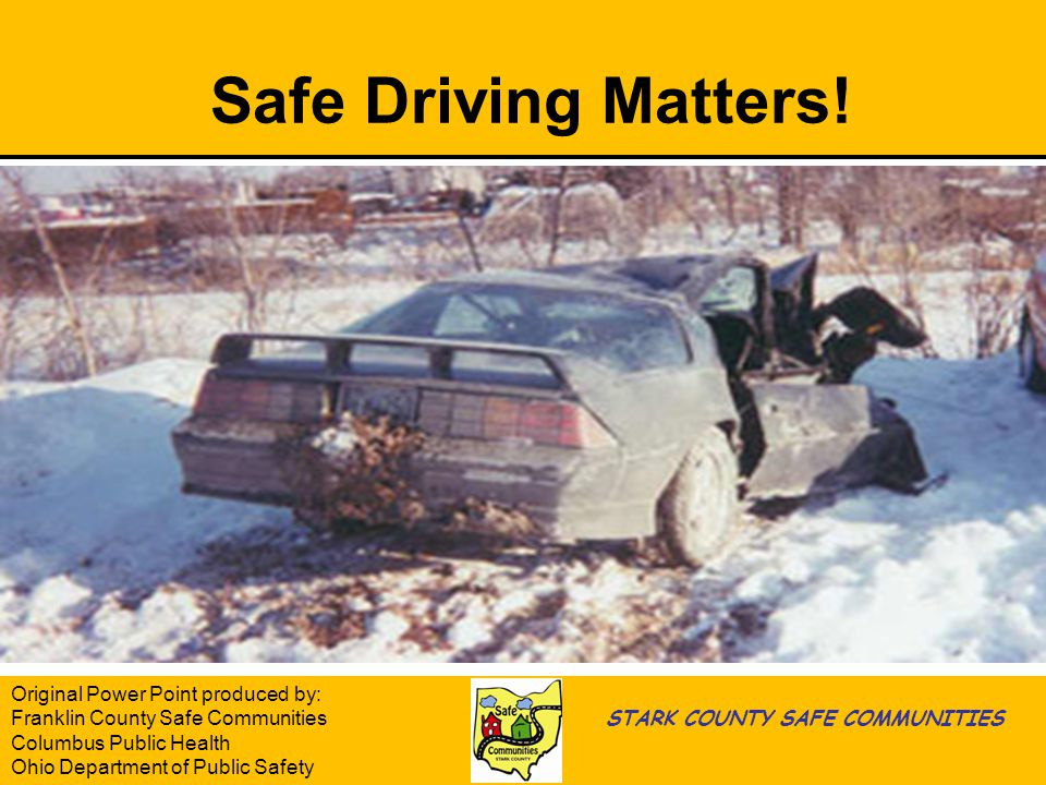 Safe Driving Matters.