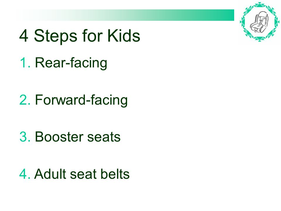 Step 1: Rear-facing Infant Seat They have a 5-pt.or 3-pt.