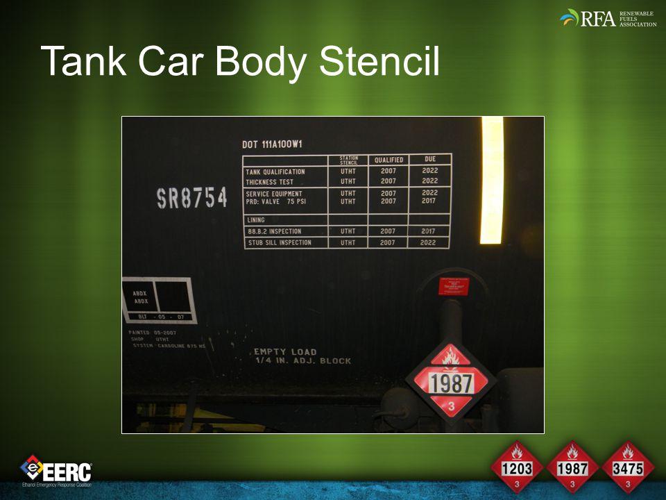 Tank Car Body Stencil