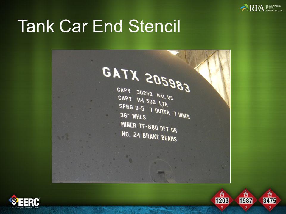 Tank Car End Stencil