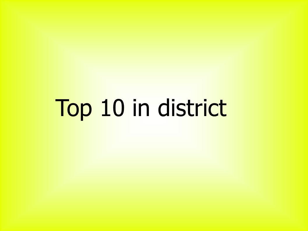 Top 10 in district