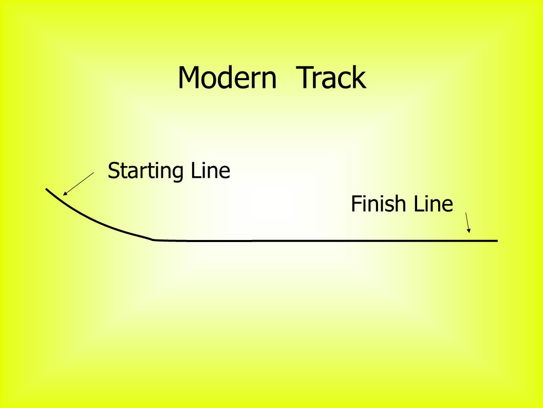Modern Track Starting Line Finish Line