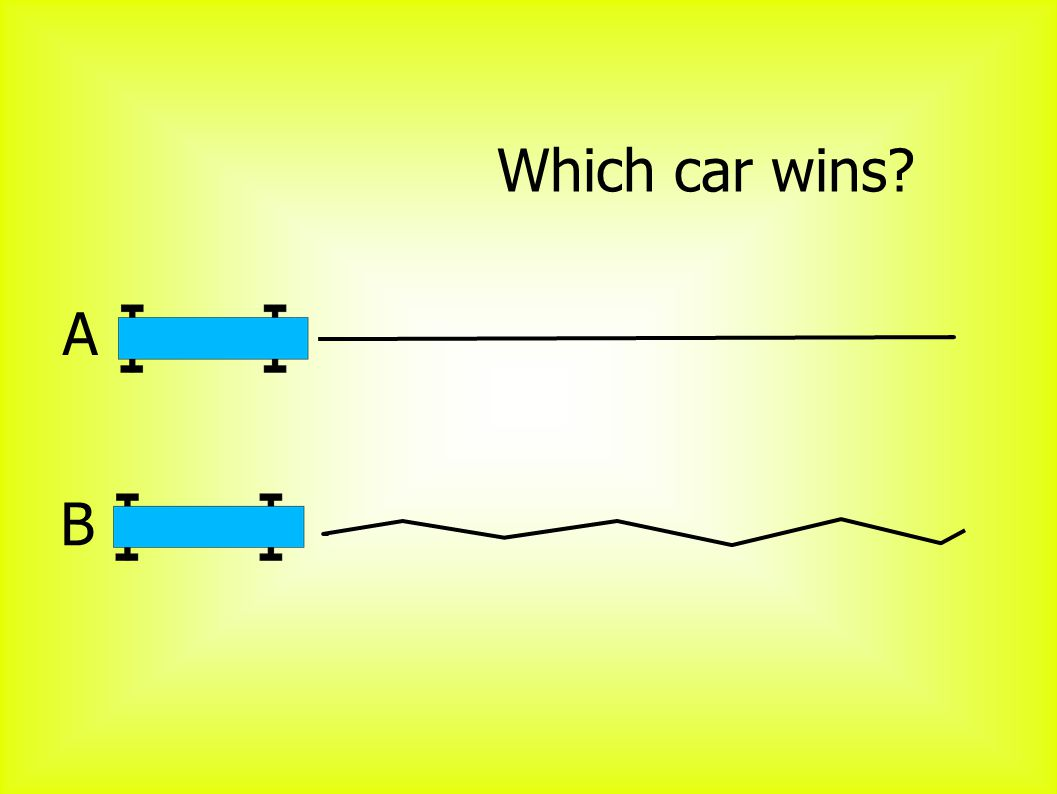 A B Which car wins