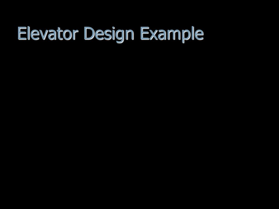 Elevator Design Example