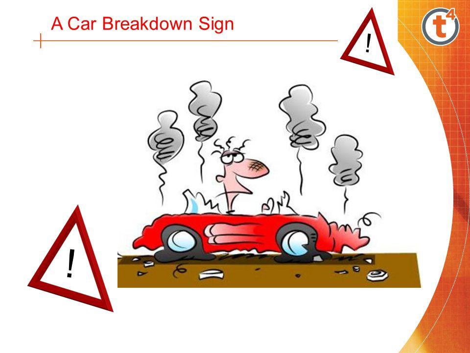 Hazzard Lights / Emergency Breakdown Sign