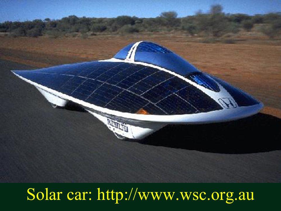 Solar car: http://www.wsc.org.au