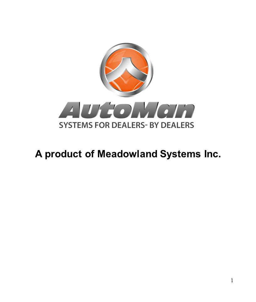 1 A product of Meadowland Systems Inc.