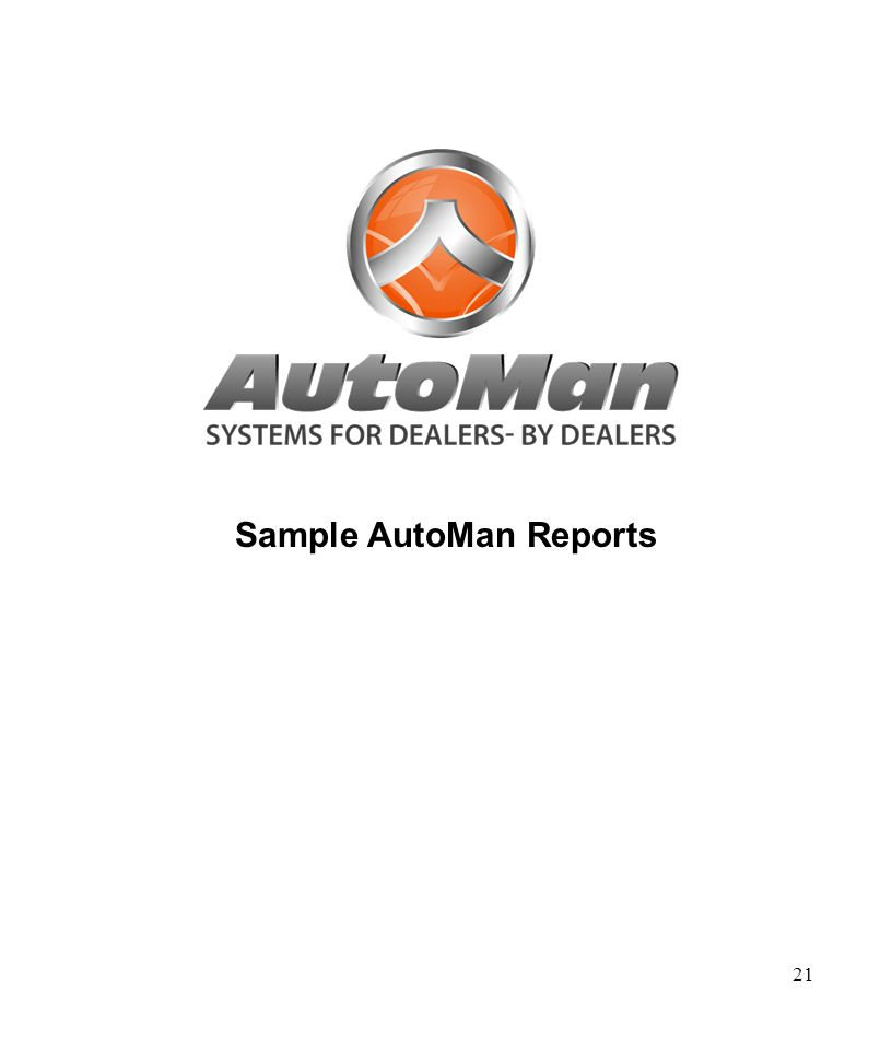 21 Sample AutoMan Reports