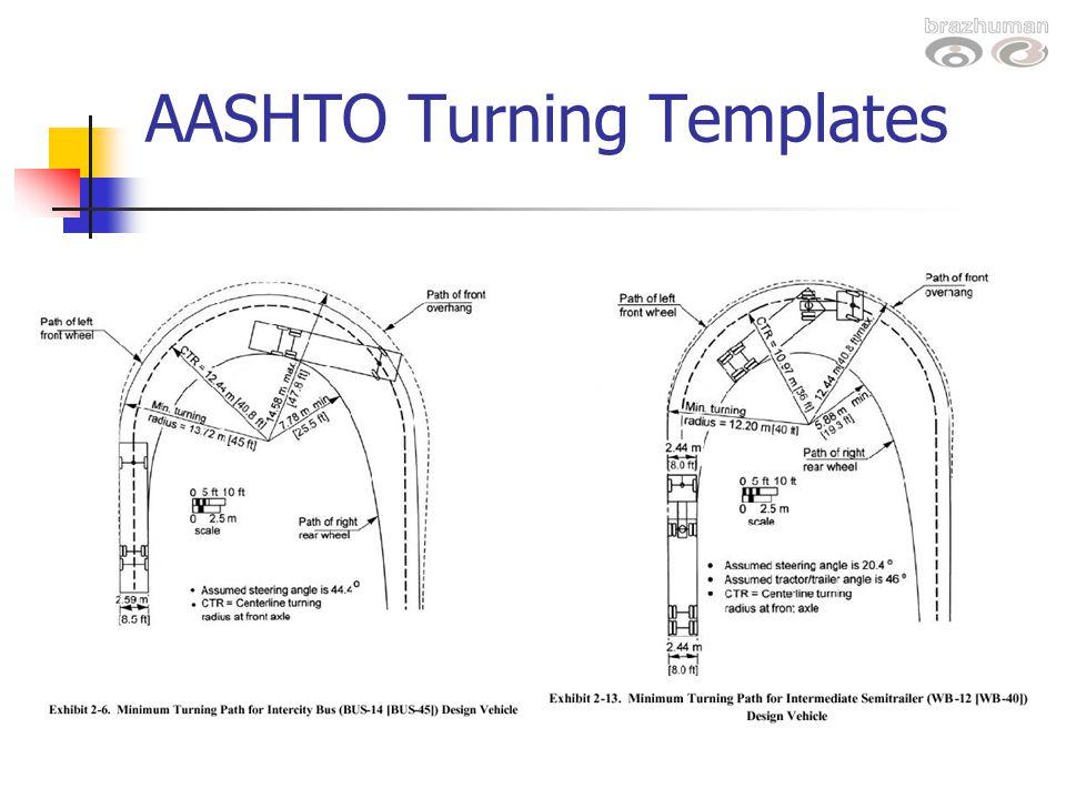 AASHTO Turning Templates