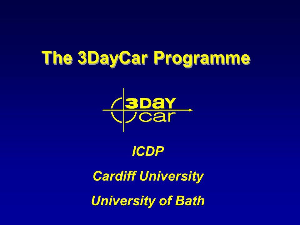 The 3DayCar Programme ICDP Cardiff University University of Bath