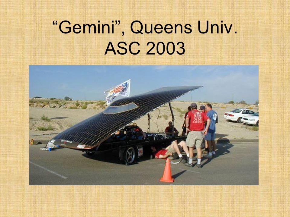 Gemini, Queens Univ. ASC 2003
