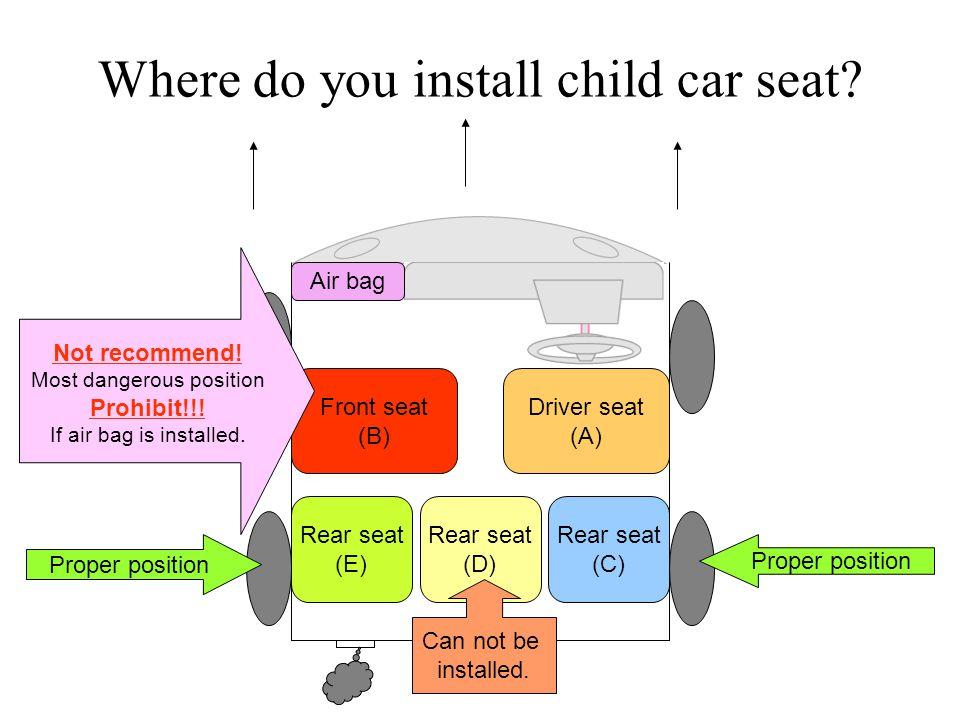 Where do you install child car seat.