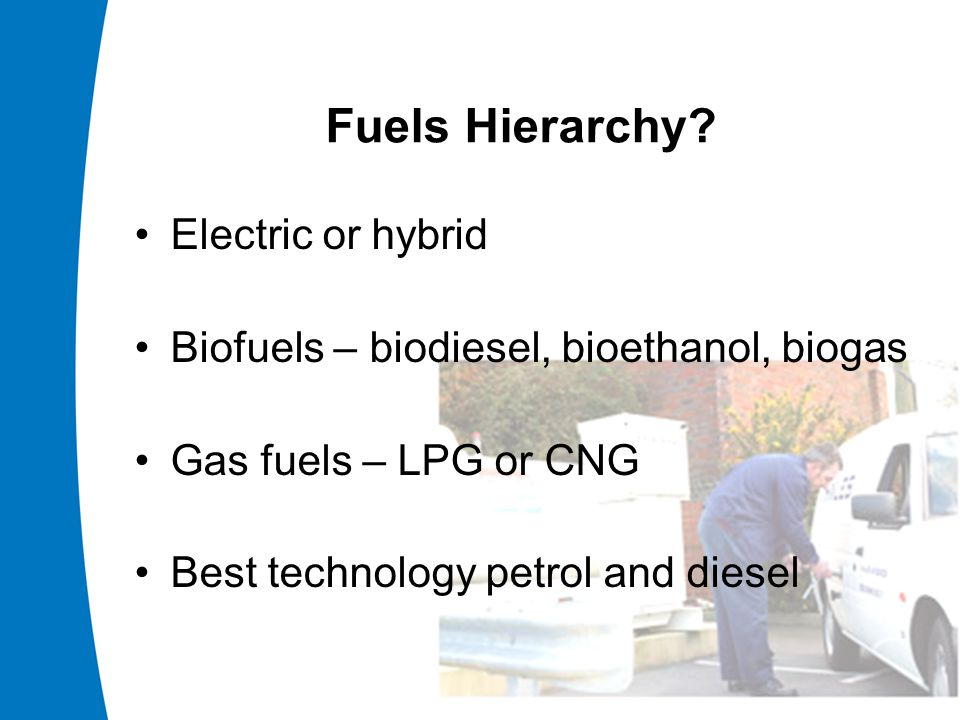 Fuels Hierarchy.