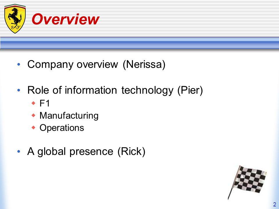 3 Company Overview Ferrari who.