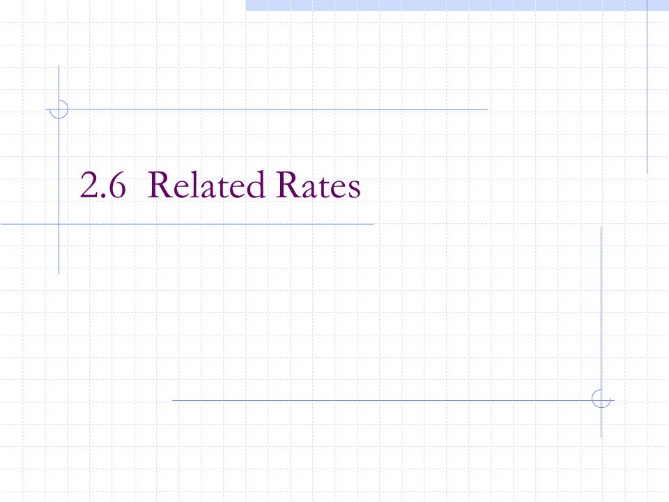 2.6 Related Rates