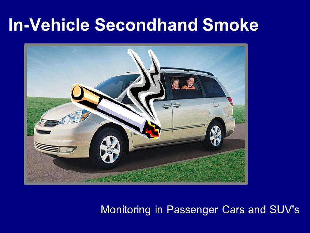 In-Vehicle Secondhand Smoke Monitoring in Passenger Cars and SUV s