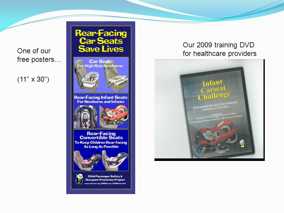 One of our free posters… (11 x 30) Our 2009 training DVD for healthcare providers