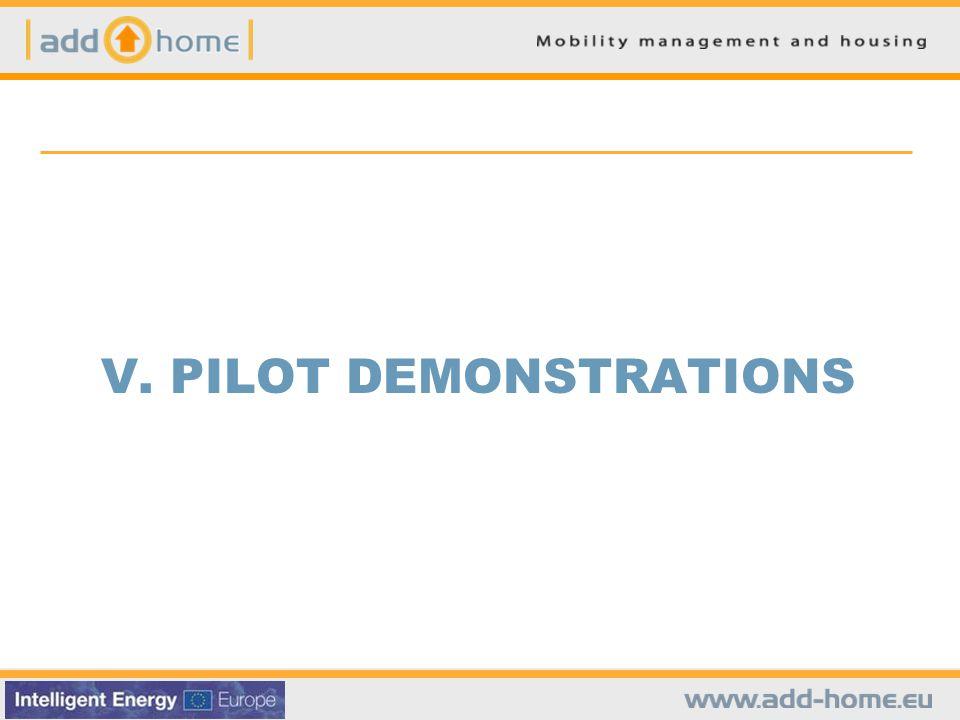 V. PILOT DEMONSTRATIONS