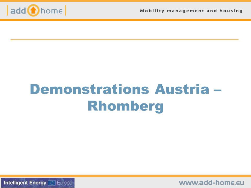 Demonstrations Austria – Rhomberg