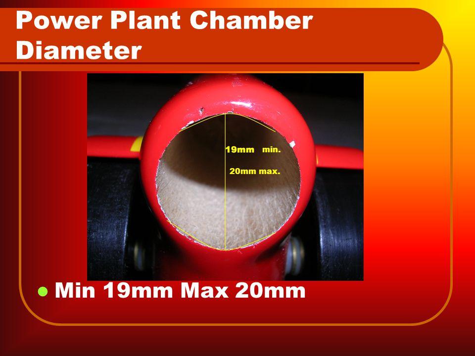 Power Plant Chamber Diameter Min 19mm Max 20mm min. 20mm max.