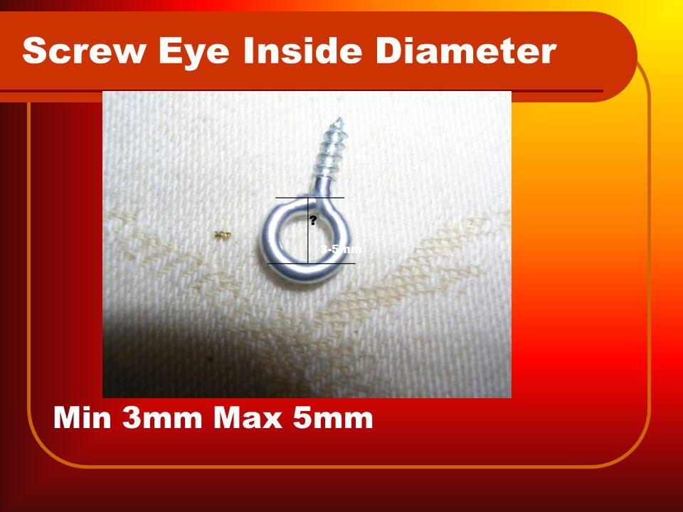 Screw Eye Inside Diameter Min 3mm Max 5mm 3-5mm