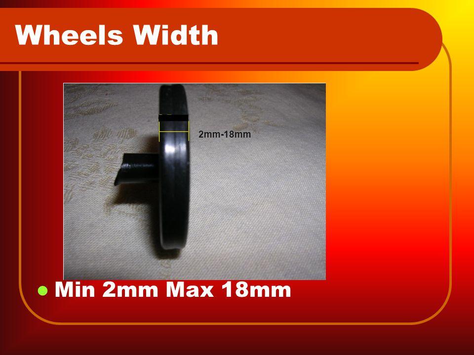 Wheels Width Min 2mm Max 18mm 2mm-18mm