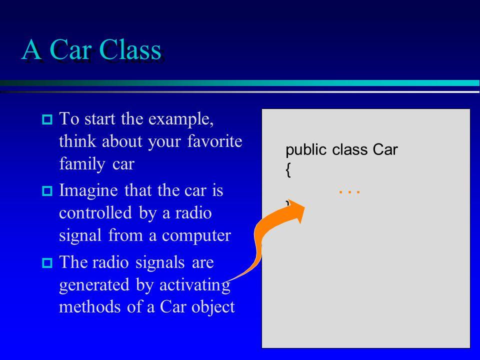 public class Car { public Car(int carNumber); public public void move( ); public void turnAround( ); public boolean isBlocked( );...