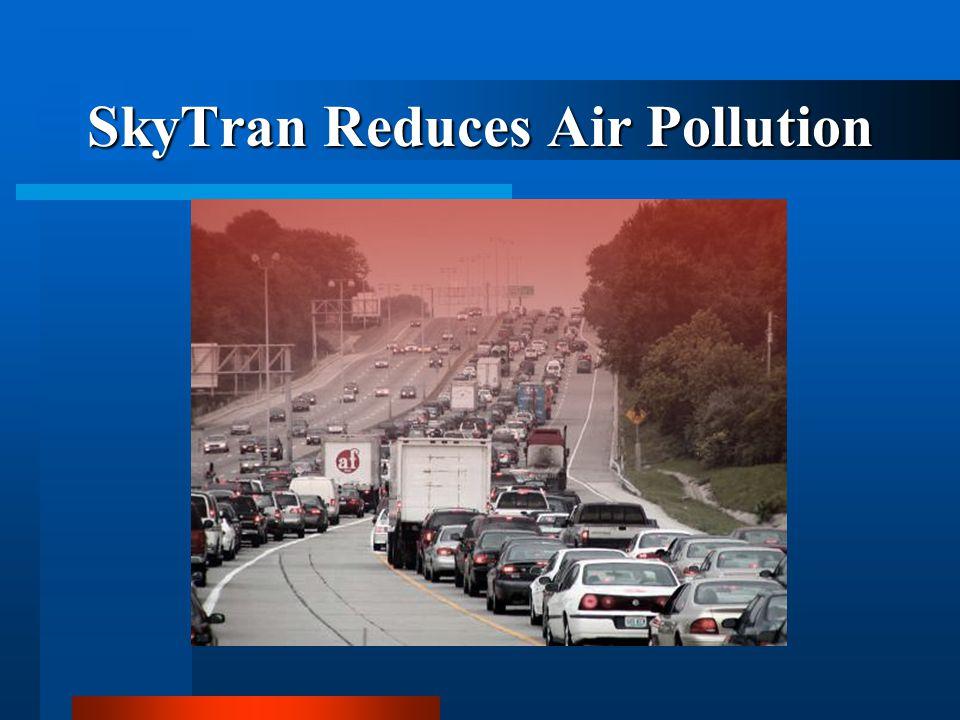 SkyTran Reduces Air Pollution