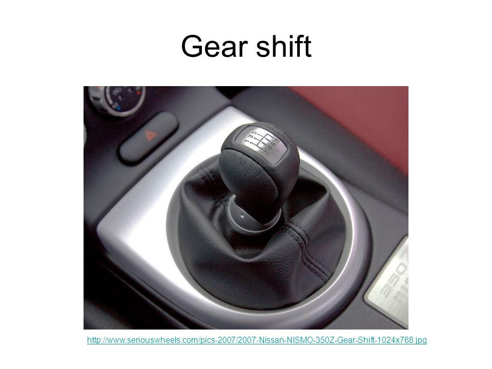 Gear shift http://www.seriouswheels.com/pics-2007/2007-Nissan-NISMO-350Z-Gear-Shift-1024x768.jpg