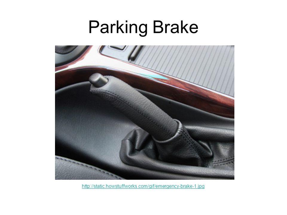 Parking Brake http://static.howstuffworks.com/gif/emergency-brake-1.jpg