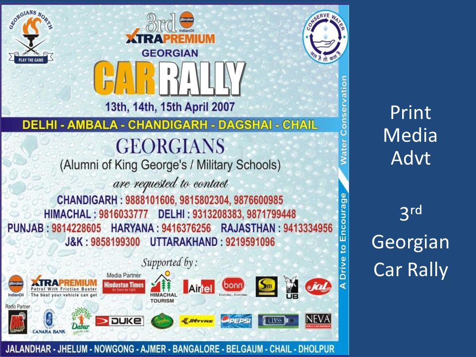 Print Media Advt 3 rd Georgian Car Rally