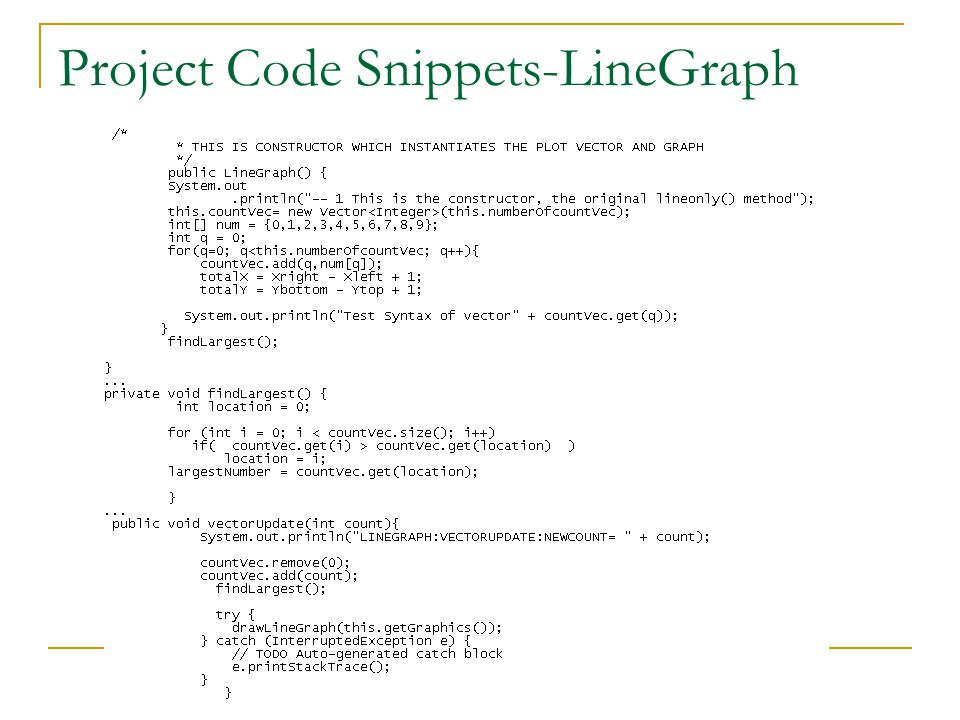 Project Code Snippets-LineGraph