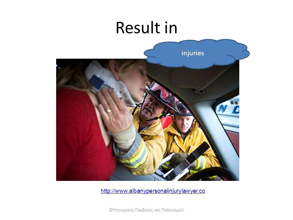 Result in injuries ©Υπουργείο Παιδείας και Πολιτισμού http://www.albanypersonalinjurylawyer.co