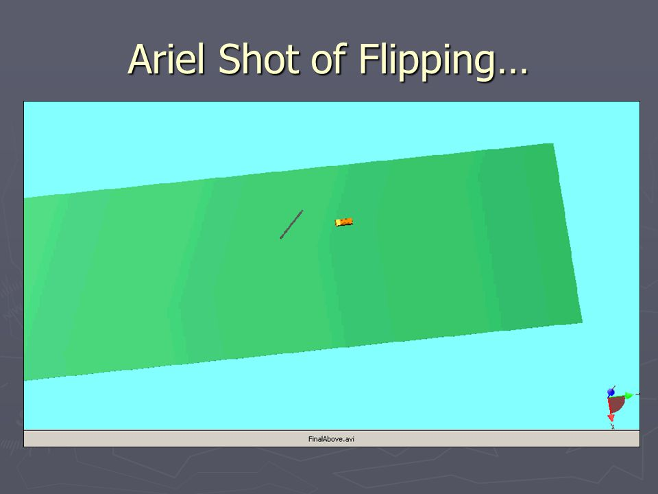 Ariel Shot of Flipping…